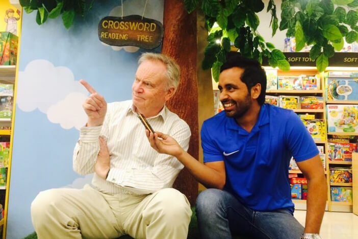 MJ Tarun with Author-Jeffery Archer