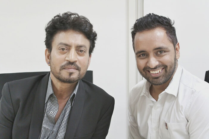 MJ Tarun with Irrfan Khan